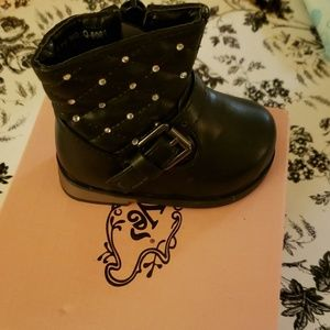 Other - Brand New with tags Black leather infant boots